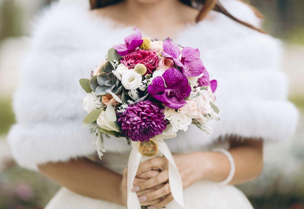 matrimonio d'inverno sposa