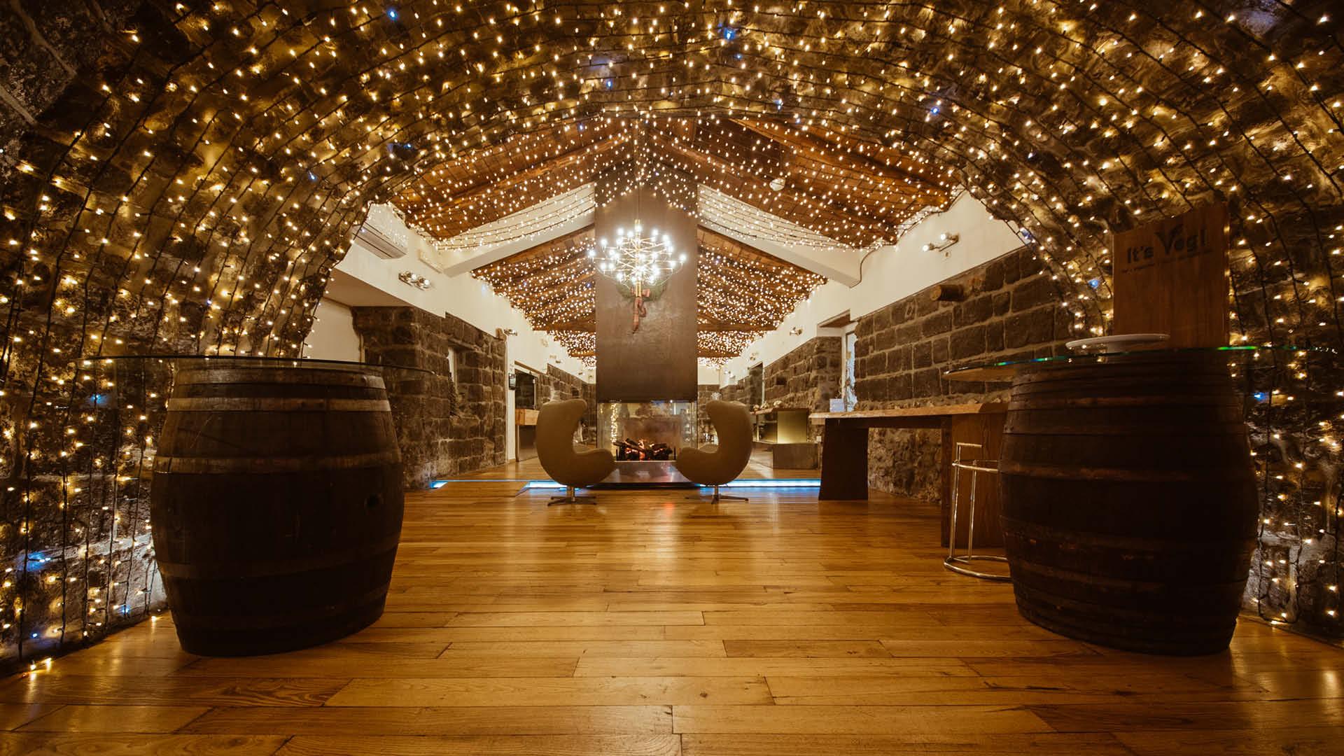 La Sala del Camino per il matrimonio d'inverno
